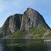 Norway, Lofoten Islands, The Peak of Festhelltinden (389m)