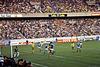 Paris (75) Juin 1979. Finale de la Coupe de  France de football au Parc des Princes. (Nantes, en jaune / Auxerre, en bleu). (Diapositive numérisée).