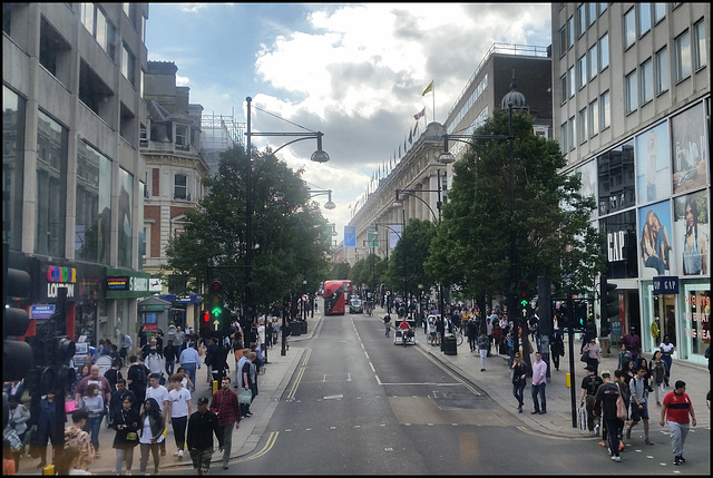 looking down Oxford Street