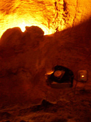 Telephone in the cave.