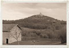 Saint-Quentin-Fallavier (38) 1 mars 2014. Le Château de Fallavier.