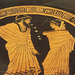 Detail of a Red-Figure Kylix in the Manner of Douris in the Virginia Museum of Fine Arts, June 2018