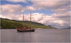 The Kommandoren on Loch Ness