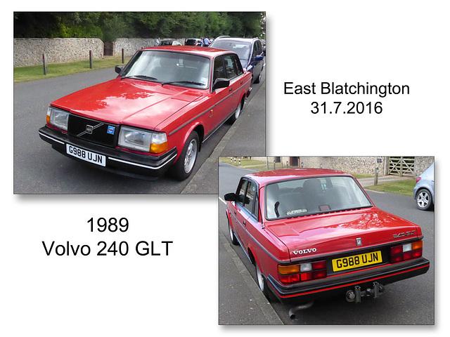 1989 Volvo 240 GLT - East Blatchington - 31.7.2016