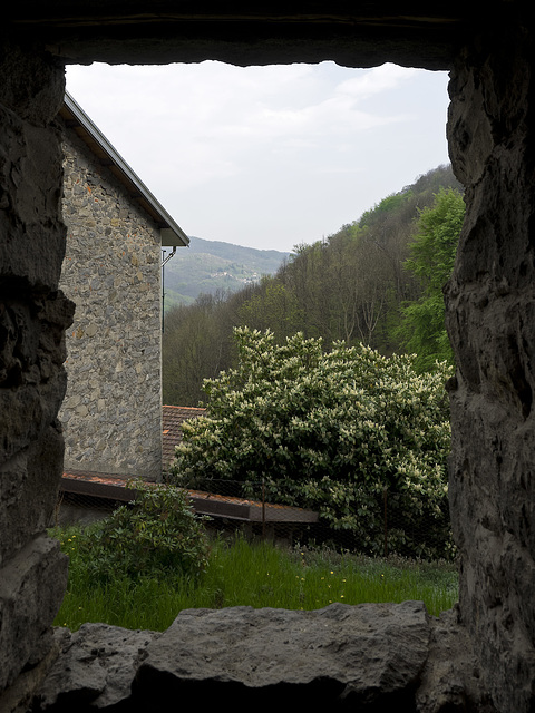 A window on the Cervo Valley's from Riabella