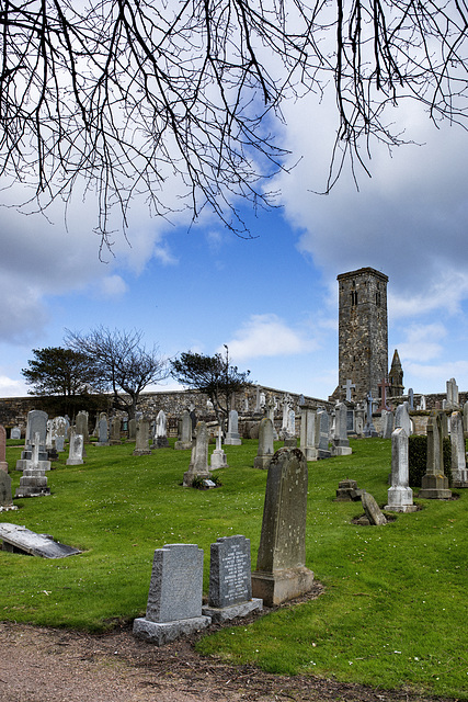 St Rule's Tower from the Eastern Cemetery, St Andrews