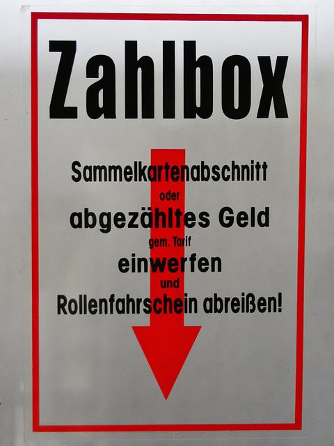 Leipzig 2015 – Straßenbahnmuseum – Zahlbox