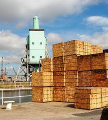 Boat Hoist, Aldam Dock, Goole East Yorkshire