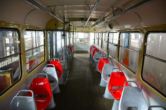 Leipzig 2015 – Straßenbahnmuseum – Interior of carriage 520