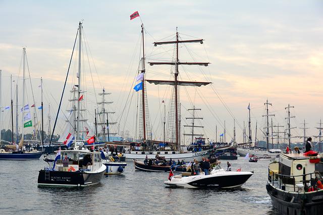 Sail 2015 – Waiting ships