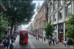 bussing down Oxford Street