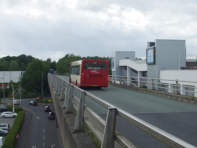 DSCF7758 Halton Borough Transport 43 (PG03 YYZ) on the Runcorn Busway - 15 Jun 2017