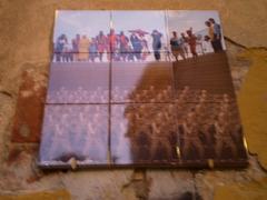Street art in tiles.