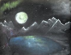 Alaska autumn moon