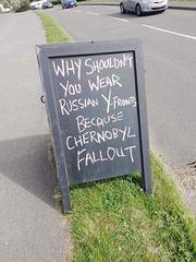 Chernobyl - Street sign dark humour