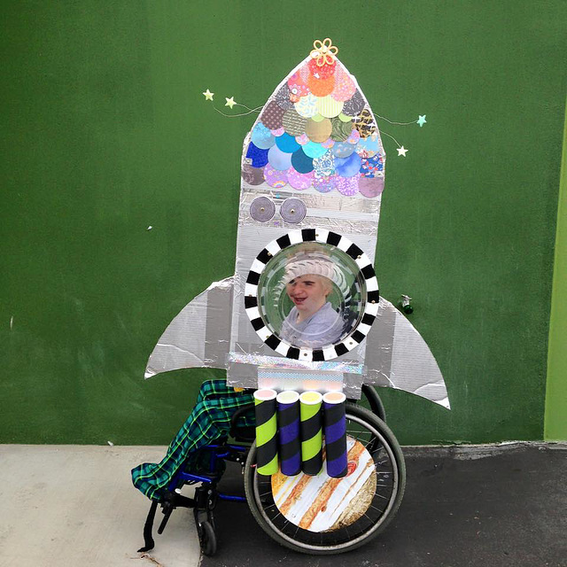 Rocketship Wheelchair Costume
