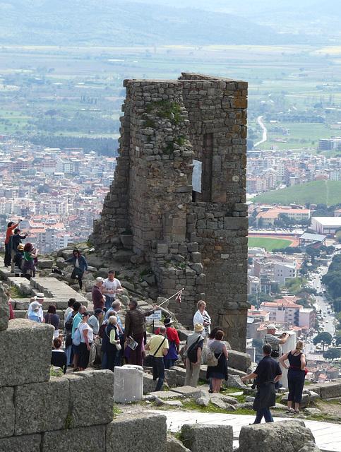 Pergamon- Tourists Above the Hellenistic Theatre