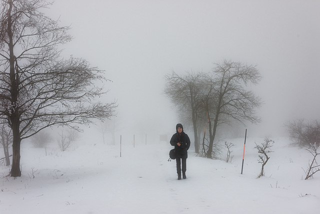 Wandern im Winternebel -  20150101