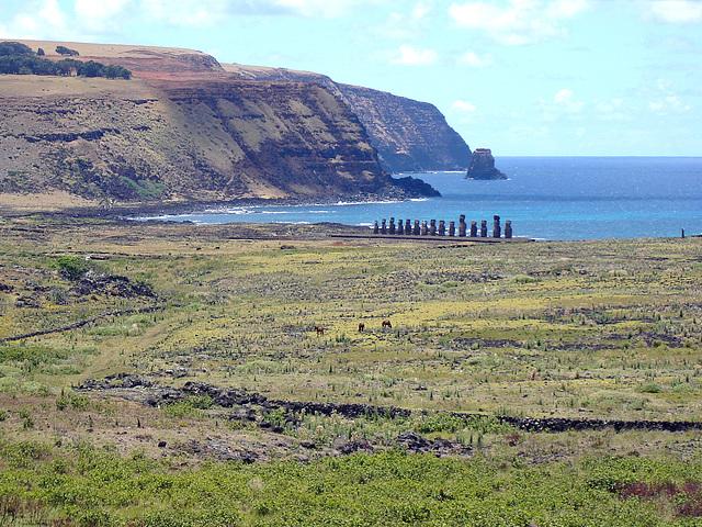 Chile - Easter Island, Ahu Tongariki