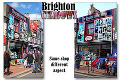 The graphic novel shop - Brighton windows - 31.3.2015