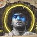 Street art on abandoned building.