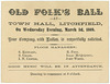 Old Folk's Ball, Litchfield, New Hampshire, March 3, 1869