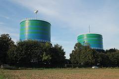 Die beiden Wassertürme an der Westerholter Straße (Herten) / 11.09.2016