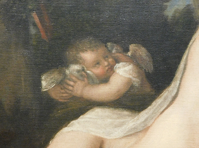 Detail of Venus and Adonis by Titian in the Metropolitan Museum of Art, February 2019