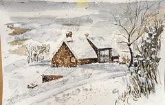 """""""La petite maison"""" sous la neige"""