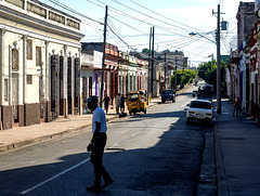 Typical street in Cienfuegos, Cuba