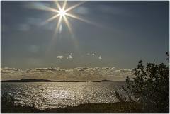 Coucher de soleil sur l'île des Embiez