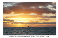 Heading west through the sunset - 24.12.2014
