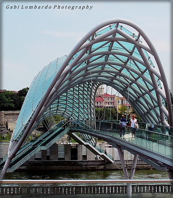 HFF !! (a modern bridge at Tblisi)