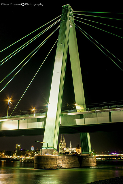 The Severins Bridge and the Cologne Cathedral