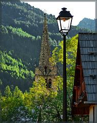 Nevache : il campanile e il lampione - (677)