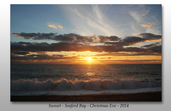 Seaford Bay sunset - 24.12.2014