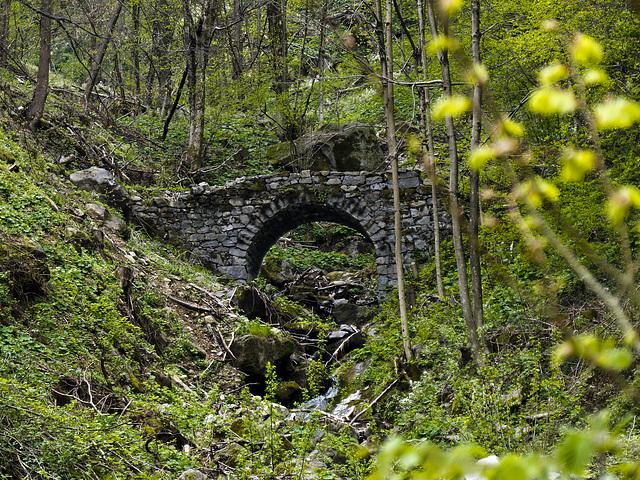 The old stone bridge near to Riabella