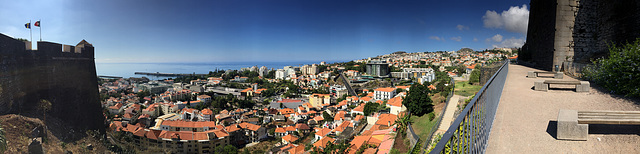 Funchal from Forte do Pico