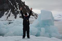 Svalbard, Hornsund-fjord, I am on the Ice Floe