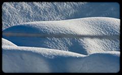 Sculpture fait par la neige....