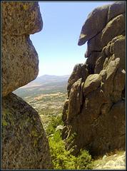 Typical granite forms in La Sierra de La Cabrera