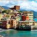 Boccadasse : ombrelloni a Capo Santa Chiara