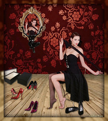 Valériane / Essayage de talons hauts - High heels try out.