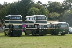 Preserved Todmorden JOC buses at Showbus - 29 Sep 2019 (P1040718)