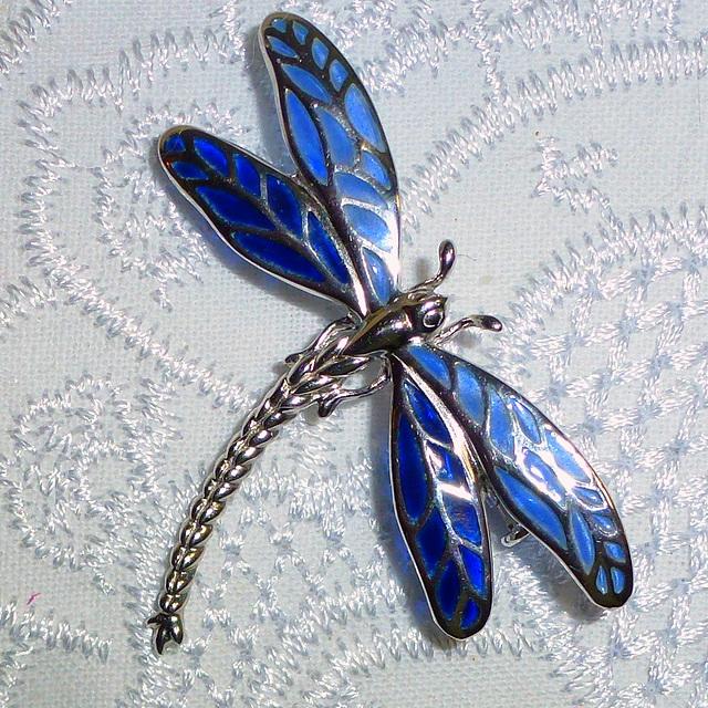 Blue Dragon Fly Broach