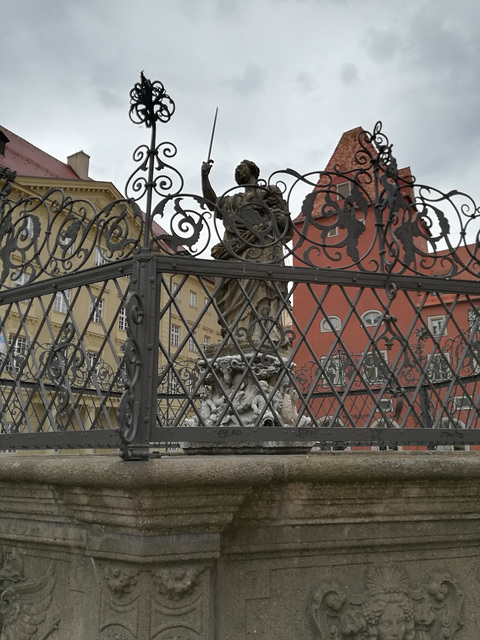 justitia behind fence