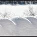 les formes naturelle de la neige et le vent.