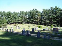 Parc funéraire en pleine nature ombragée