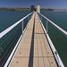 Dam tower footbridge