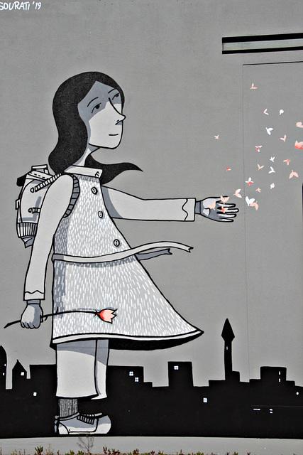 Das Mädchen mit der Blume